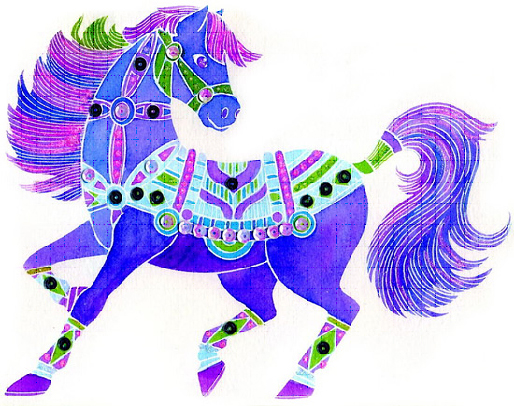 Конкурс рисунков лошадь символ 2014